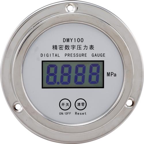DMY100液晶型精密数字压力表(轴向)